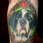 Rover.com blog: St. Bernard tattoo // Courtesy of Two Birds Tattoo, Seattle