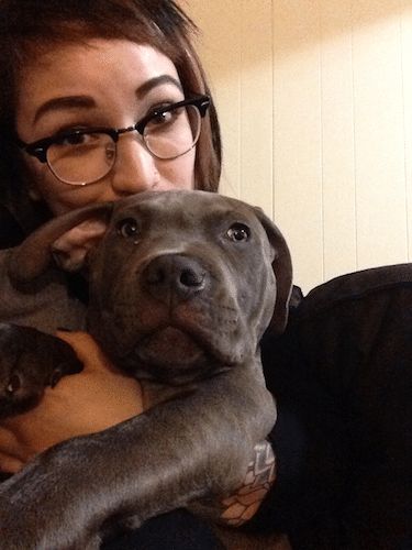 Priscilla and her pit bull puppy Atlas // Rover.com blog