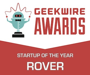 The GeekWire 2014 Startup of the Year Award badge