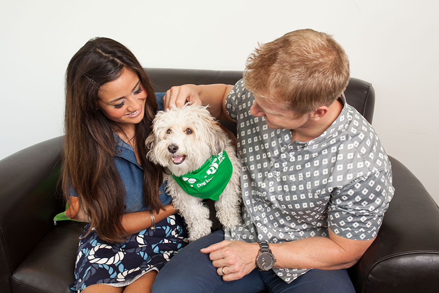 Sean Lowe, Catherine Giudici, and Rover.com dogs
