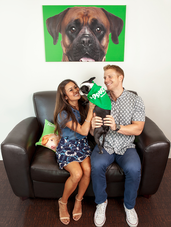 Sean Lowe and Catherine Giudici at Rover.com with dogs