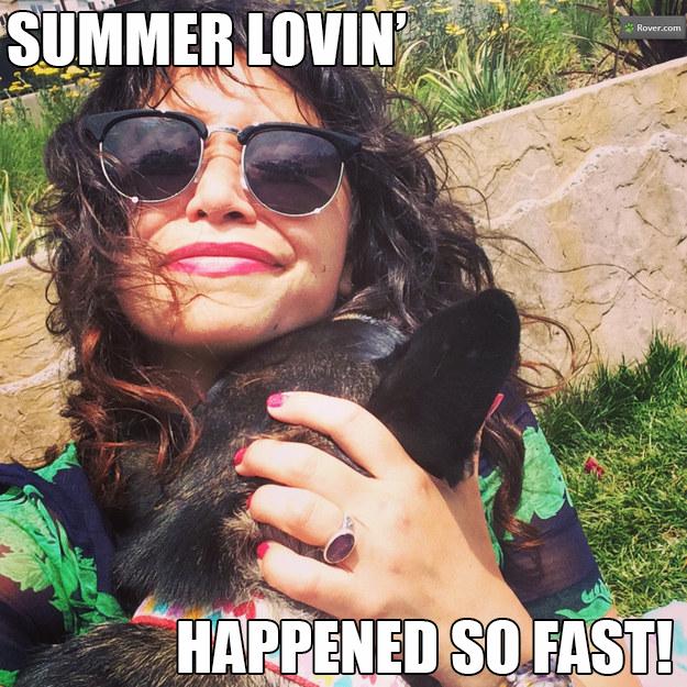Summer Romance Dog
