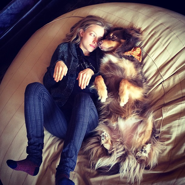 Amanda Seyfriend and her dog, Australian Shepherd