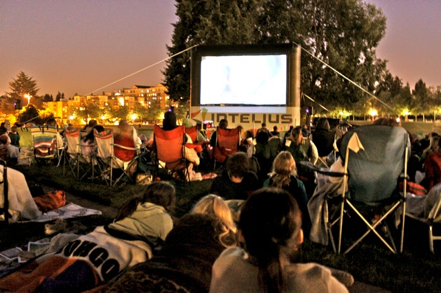 Movie Nights Downtown Bellevue - Dog-friendly Seattle summer events