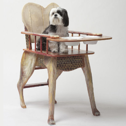 dog high chair, bone appetit high chair