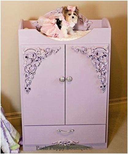 Dog armoire, dog princess armoire