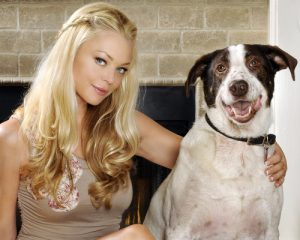 Charlotte Ross with dog