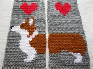 Corgi scarf - gifts for dog owners