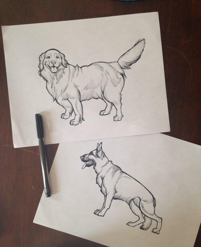 Pawblo Picasso sketch