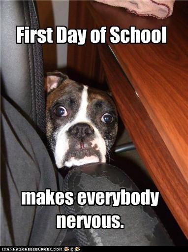 first day of school nerves