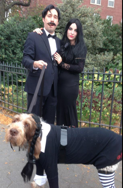 Adams Family dog costume