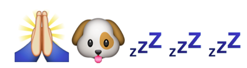 Dog emoji - please go to sleep