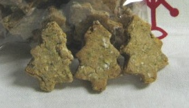 Dog Christmas tree cookies