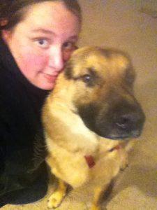 Amanda and dog