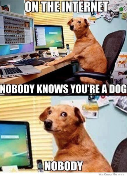 on the internet nobody knows your a dog dog philosophy