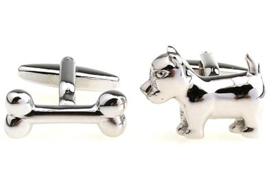 Dog cufflinks