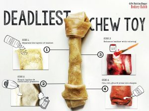 Pet nutrition blogger Rodney Habib outlines the manufacturing process of many commercially-available rawhide chews.