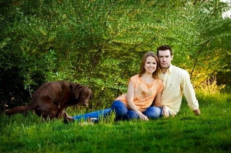 timing is everything dog engagement photo