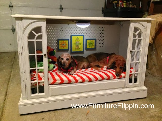 tv console upcycled dog bed furniture flippin