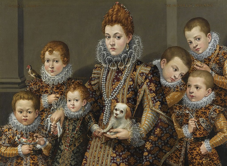 1604 Lavinia Fontana (1552-1614) Portrait of Bianca Degli Utili Maselli with Six of Her Children