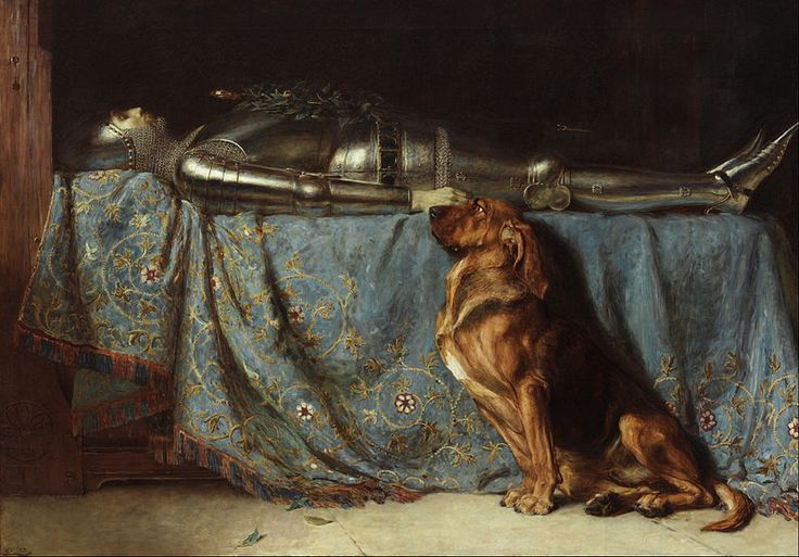 Briton Riviere- Grieving dog painting