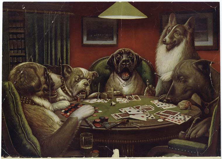 cassius coolidge A_Waterloo_Dogs_Playing_Poker