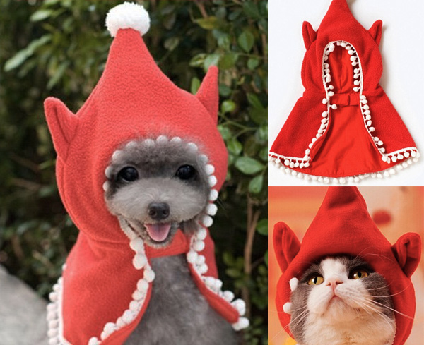 elf on the shelf pet holiday costume cape
