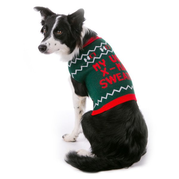 sarcastic ugly xmas sweater for dogs