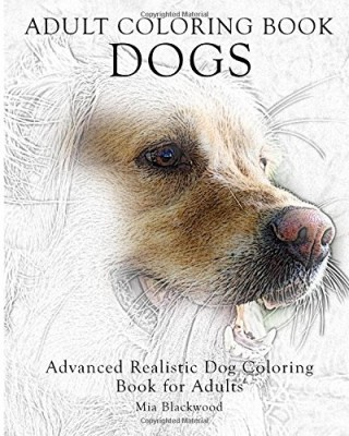 Adult Realistic Dogs 810 Dog Coloring Book