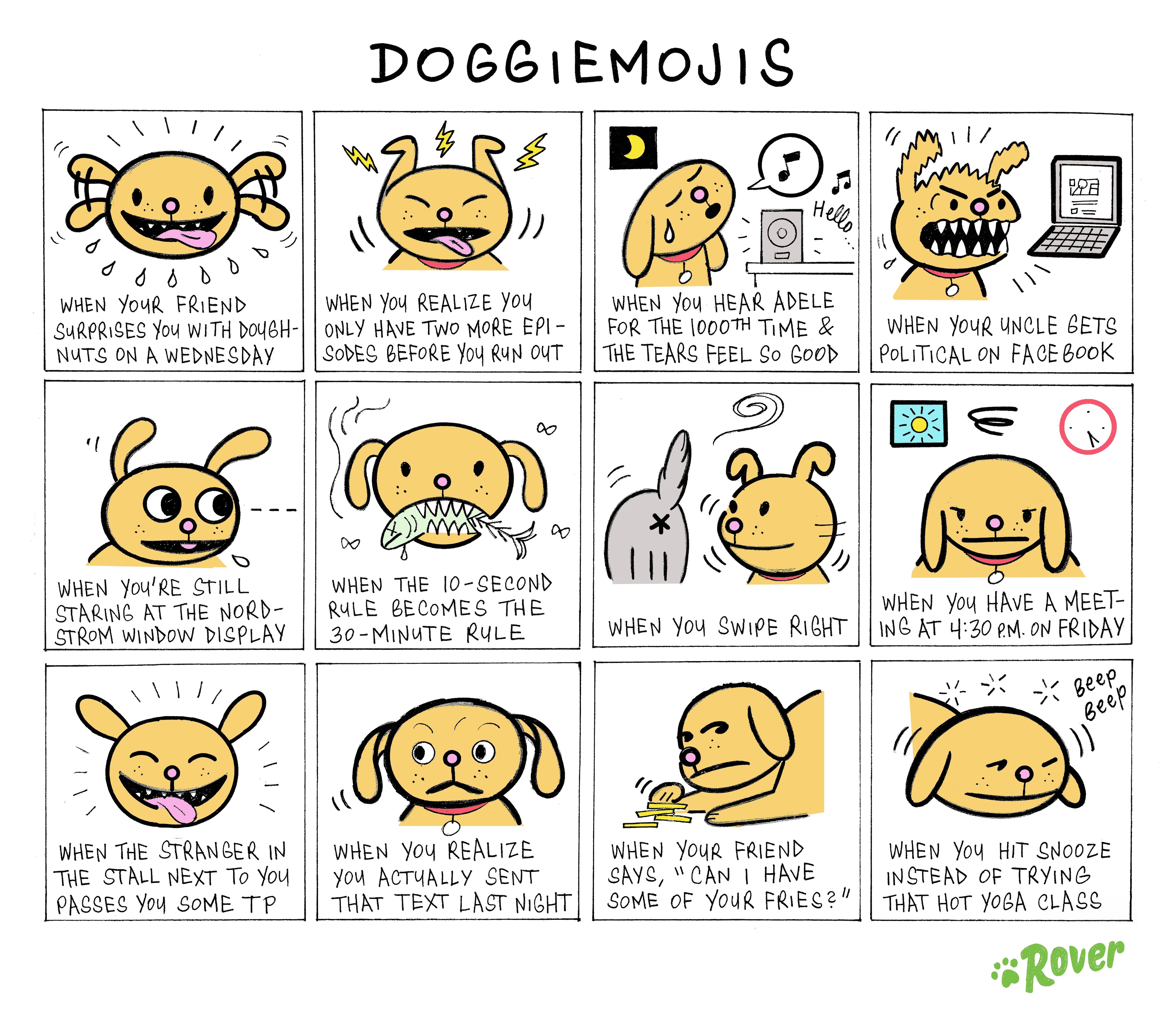 emojis featuring dogs