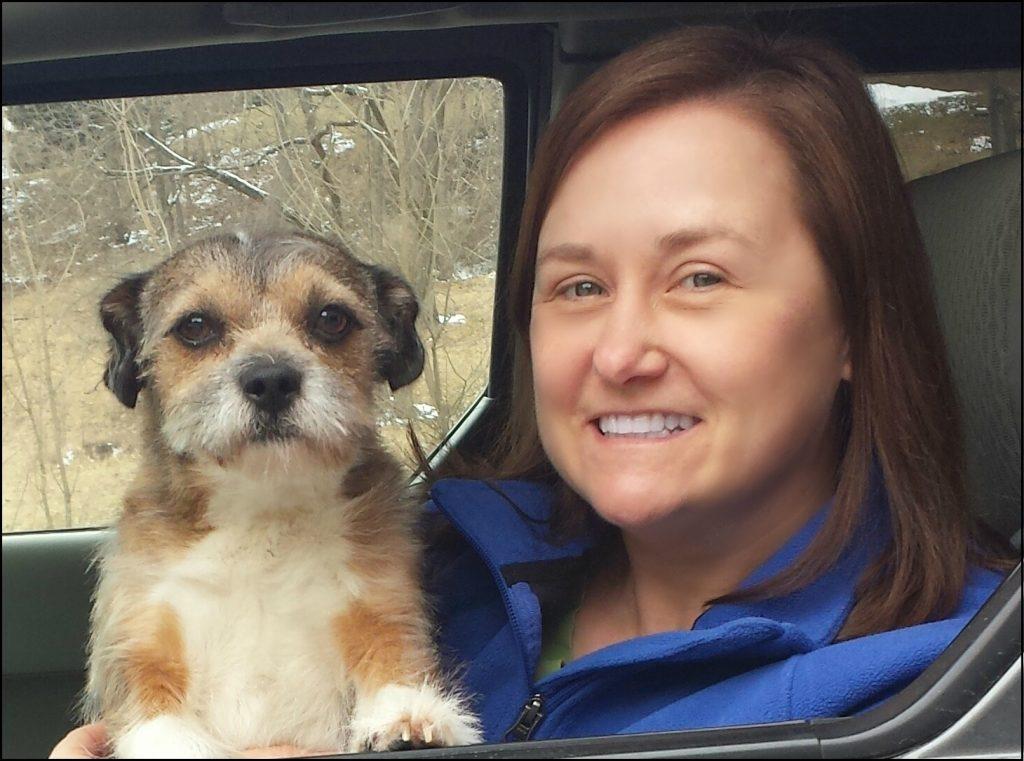 vet elizabeth carney and dog