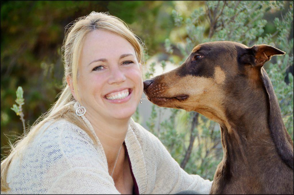 vet mary gardner and dog
