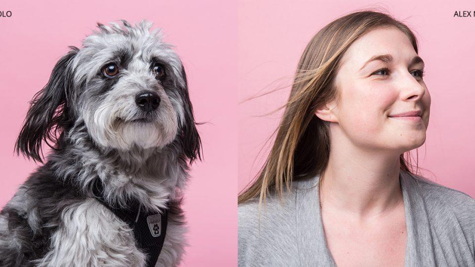 dog and human lookalike portrait