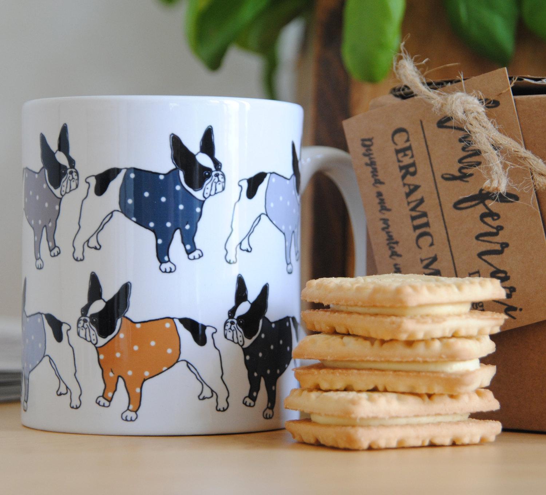 cool dog accessories french bulldog mug