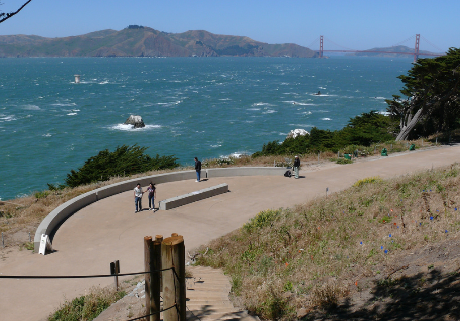 Catch glimpses of the iconic Golden Gate Bridge from portions of the trails at Lands End. Photo via Flickr.