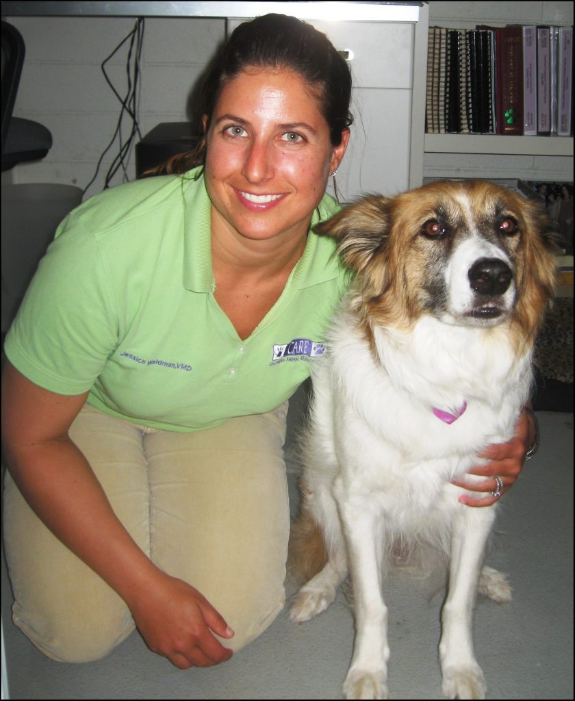 Dr. Jessica Waldman, DVM, and her dog Tate