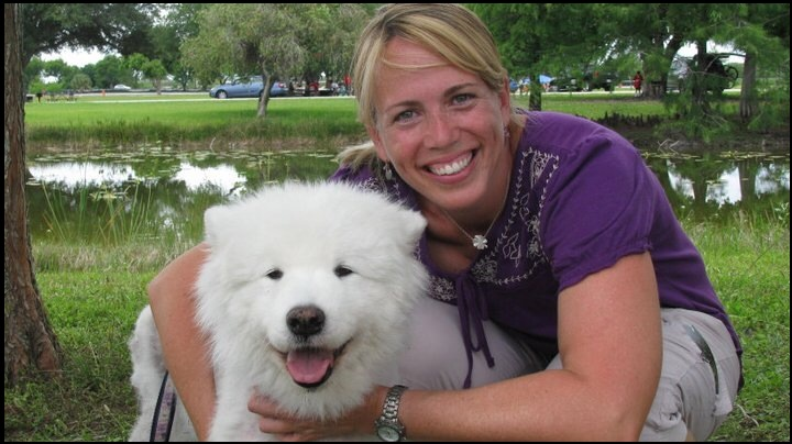 Dr. Mary Gardner, DVM, and and her Dog Serissa