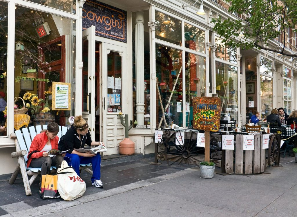 Cowgirl Hall of Fame on Hudson Street at West 10th Street, Greenwich Village, Manhattan, NY