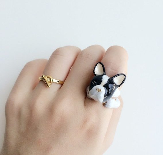 heart design tail sterling rings ring pet cat collections silver little ringtooit untitled