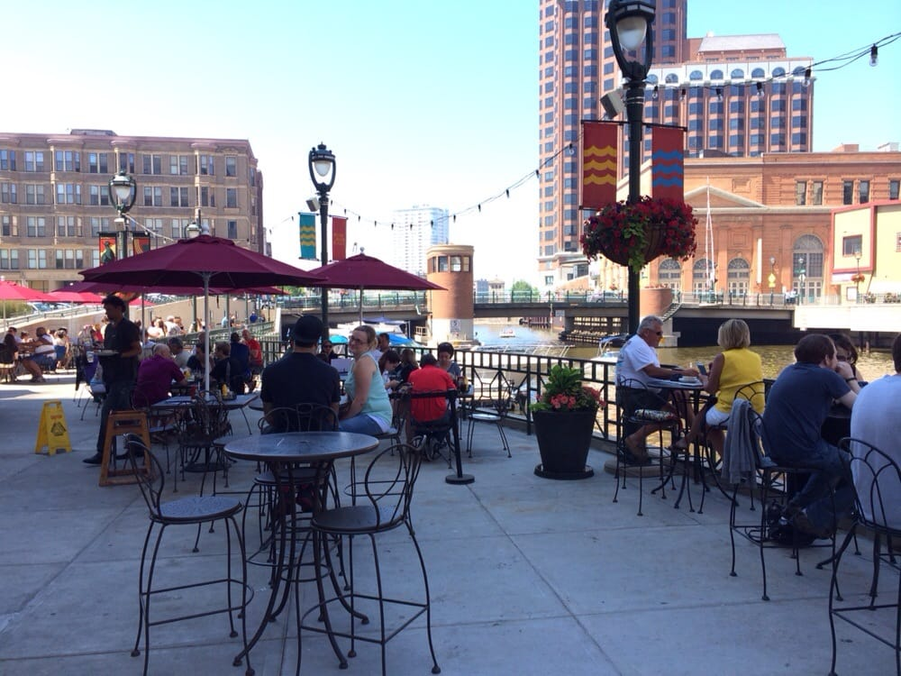 Dogs Welcome On Patio Overlooking Milwaukee River