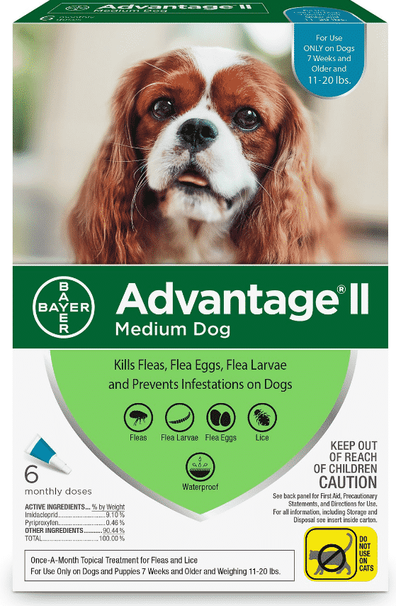 0914237bc You'll save a bundle when you stock up on Advantage II flea medicine on Cyber  Monday. All Advantage II products are over 50% off at Chewy.com.