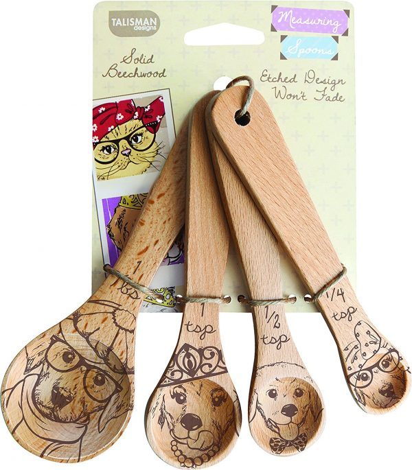 Laser Etched Dog Collection Measuring Spoons