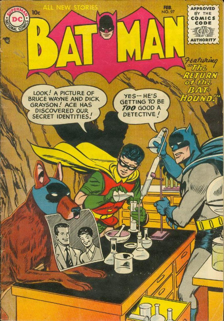 Batman Vol 1-97 1956 batman dog name
