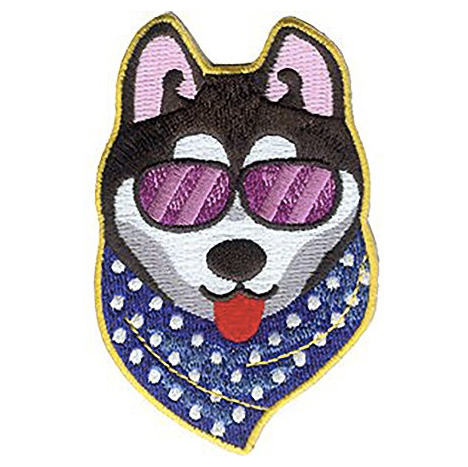 Cool husky iron on patch