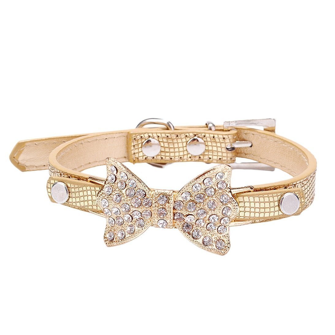 gold-bling-bowtie-dog-collar
