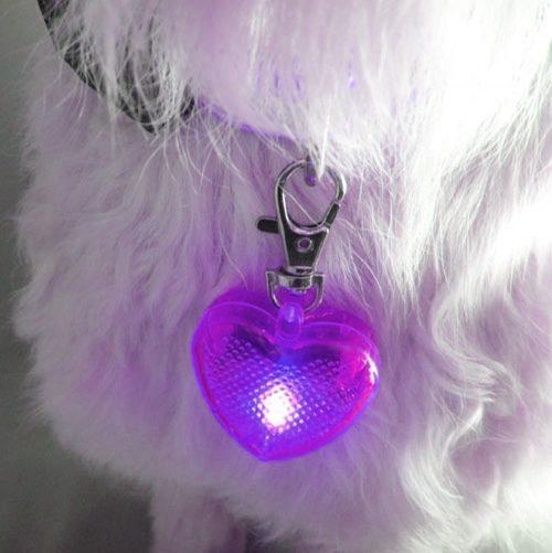 heart shaped led light for nighttime walks