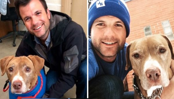 Cute Guy Adopts Dog with Cancer, Internet Swoons