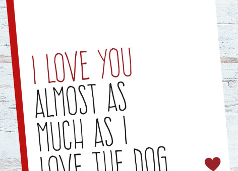 8 Adorable Valentine's Cards Only for Dog Lovers