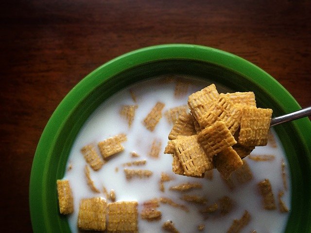 bowl of Chex cereal