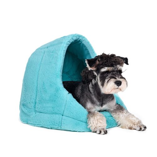plush dogloo bed